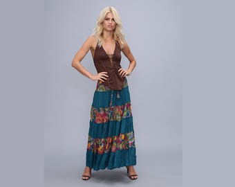 Gypsy skirt - bohemian - boho - maxi skirt - long skirt - tribal skirt