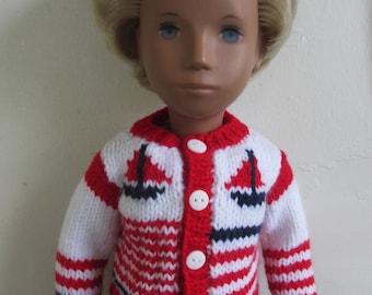 Knitting Pattern for Nautical Jacket for Sasha or Gregor Doll