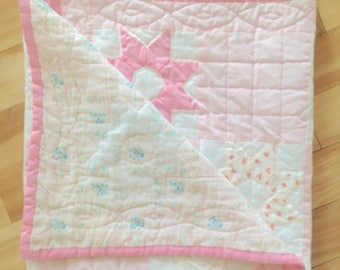 Vintage Baby Quilt Handmade