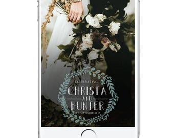 Wedding Snapchat Geofilter, Floral Wedding Snapchat Filter, Custom Snapchat Geofilter, Wedding Day Geofilter Autumn Fall Wedding Classic