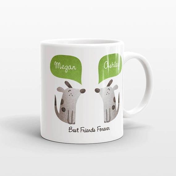 Best Friend Gift, Dog Mug, Dog Gift, Personalized Best Friend Mug, Animal Best Friend Coffee Mug, Unique Friendship Gift, Birthday Gift
