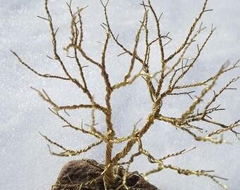 Decorative Twisted Brass Tree