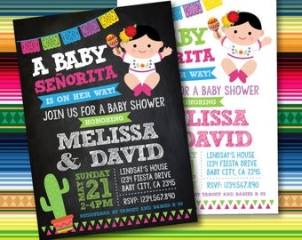 fiesta baby shower invitations mexican baby shower invitations mexican fiesta party digital