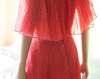 50s Red and White Polka Dot Dress Pin Up Dress