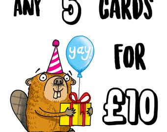 PICK AND MIX Any 5 cards for 10 pounds
