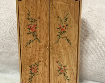 "Dollhouse Miniature 1"" Scale Armoire"