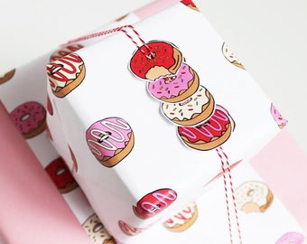 2 sheets of Donut Wrap - red and pink