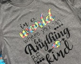 Be Kind Autism Awareness T-Shirt