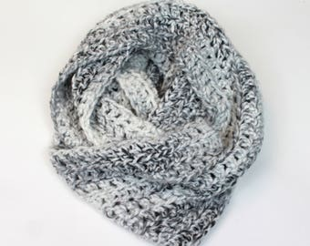 Giant Chunky Knit Infinity Scarf Wool Circle Scarf | THE ANCHORAGE in Avalanche