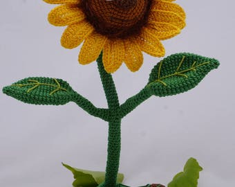 Amigurumi Crochet Pattern - Sonny the Sunflower - English Version