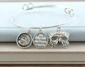 A Midsummer Night's Dream Bracelet – William Shakespeare – Literature Jewelry - Theatre Jewelry – Fairy Bracelet – Fantasy Jewelry