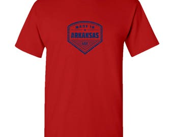 Made in Arkansas T Shirt - Red