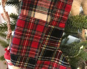 Small Flannel Christmas Stocking