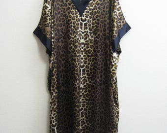 Leopard Caftan African Plus Size Dramatic Gown