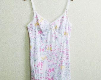 Olga Mod Babydoll Nightgown Floral Print Small - Very short