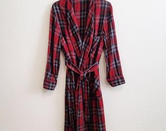 Plaid Flannel Robe Medium McKensie