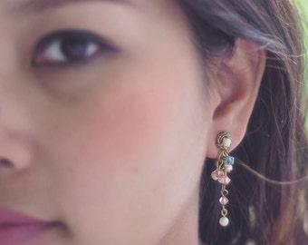 SALE EARRINGS/Crystal earrings/Wire wrapped jewelry/Dangle & drop earrings/Gift for her/Birthday gift/Handmade earrings/Handmade jewelry
