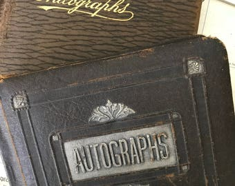 Antique Autograph School Graduation Books…Year 1925…JHS 64M East New York Brooklyn & Public School #188G Lower East Side Manhattan, NY