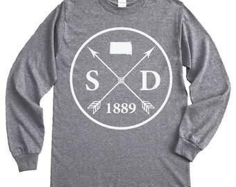 Homeland Tees South Dakota Arrow Long Sleeve Shirt