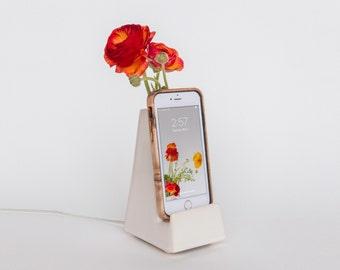 STAK Bloom Phone Vase, White