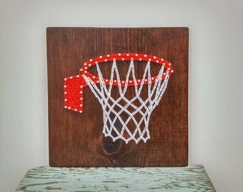 Basketball string art sign, basketball coach gift, basketball mom, sports home decor,basketball decor, basketball gift, wall decor, hoop