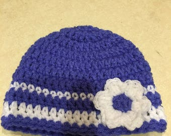 Stripe Hat with Flower