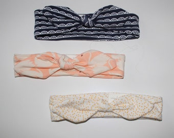 Knotted Girls Headband, Baby and Girls Hair Accessory, Headwrap, Hair Band, Knot Top Band