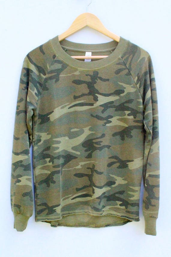 Camo Sweatshirt Pullover