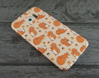 Red Squirrels Cute Autumn Fall Squirrel Patterned Samsung Galaxy S6 / S6 Edge / S7 / S7 Edge / S8 Case