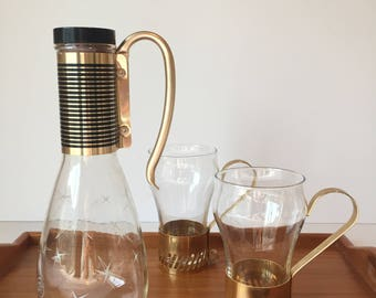 Vintage Pyrex Carafe. Coffee Carafe, Atomic Starburst Coffee Pot, Mid Century Modern Kitchen, Pyrex Kitchen