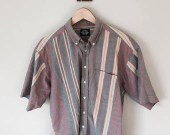 Striped Dockers Button Up