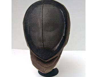 FREDERICK ROHDES Rhodes Sword Fencing Face Mask - Steampunk Lamp Shade - Black