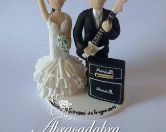 wedding cake topper groom playing guitar electric guitar wedding cake topper guitar groom rock 26331