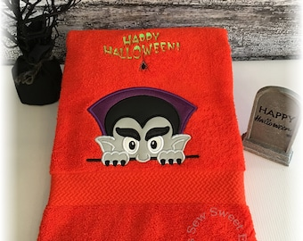 dracula halloween bath towelchilds hooded toweltowelbeach towel with or - Halloween Bath Towels