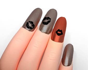 Lips Nail Stickers, love, kisses, vinyl decal