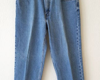 550 Levi Denim Jeans 80s American Made USA 36x29