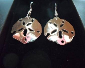 Sand dollar earrings  quarter size