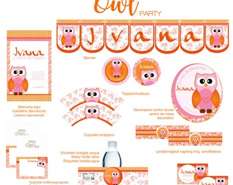 Owl printable party