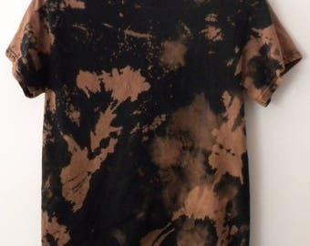 Tie dye T-shirt, Acid wash T-Shirt, Black tie-dye, Grunge, retro, hipster, trending fashion, rocker, reverse tie dye, retro t-shirt