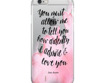 Jane Austen Clear iPhone Case - Bookish Phone Cover