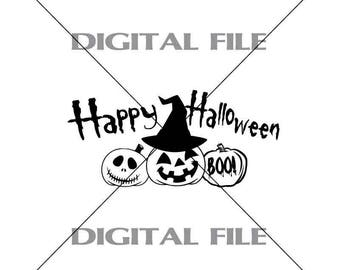 Happy Halloween Vector Image SVG File Digital Cutting File  Ai - Eps - PNG - DXF - Svg - A1