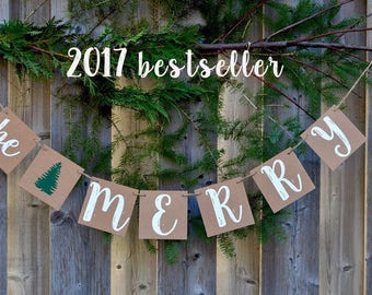 BESTSELLER 2017- Be Merry Banner - Christmas Decoration - Be Merry Banner - Holiday Banner - Holiday Photo Prop - Ready to Ship
