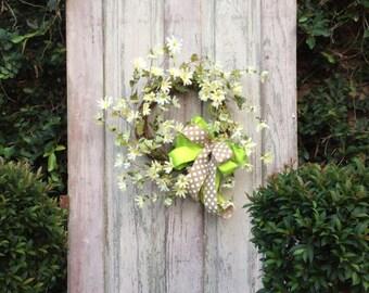 Daisy wreath, spring flower wreath, summer wreath, front door wreath, door wreaths, double door wreath, door wreath, summer wreaths