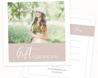 Gift Certificate Template, Gift Card Template for Photographers, Gift Certificate Printable, Photoshop Template Gift Certificate Design