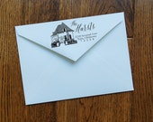 Personalized House Stamp - Self Inking - Hand-Lettered - Free Shipping!