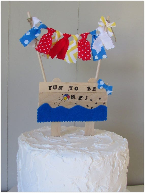 Beach Ball Cake Topper Fun To Be One Birthday Summer Birthday
