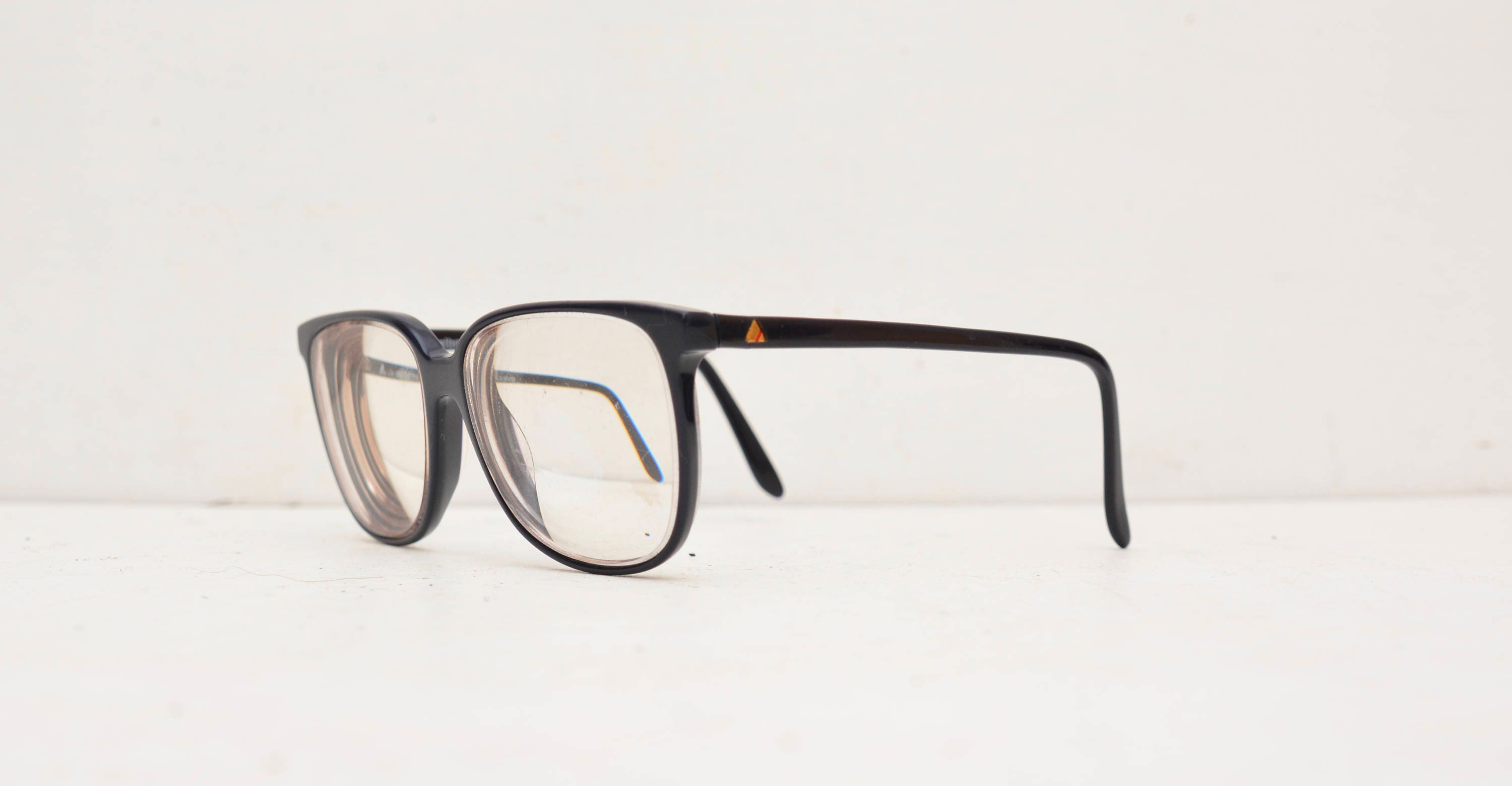 Liz Claiborne Eyeglasses LC 12 Navy Blue NA 135 Nerd Oversized Big ...