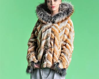 Real Fur Canadian |Lux Fur Jacket with hood