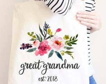 Great Grandma Tote Bag, Pregnancy Announcement, Great Grandma Gift