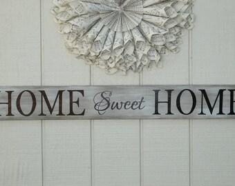 Home Sweet Home Sign, Housewarming Gift, Rustic Home Sign, Home Decor Sign, Wedding Gift, Wall Art,Home Sweet Home, Collage Wall Sign, Home